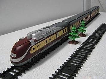 Amazon.com: 1/87 juguete tren modelo Diesel locomotora de ...
