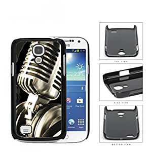 Classic Vintage Microphone And Headphones Hard Plastic Snap On Cell Phone Case Samsung Galaxy S4 SIV Mini I9190