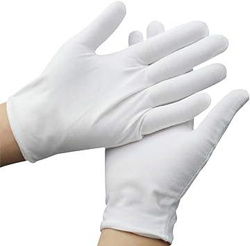 10 pares de guantes de algodón blanco hidratantes de manos ...