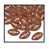 Beistle Party Decoration Fanci-Fetti Footballs (1 Oz)- Pack of 12