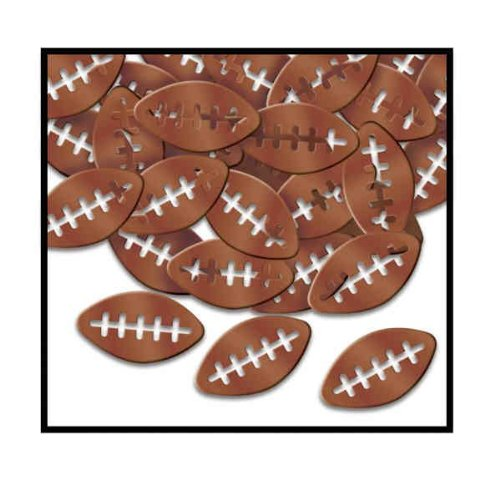 Beistle Party Decoration Fanci-Fetti Footballs (1 Oz)- Pack of 12 by Beistle