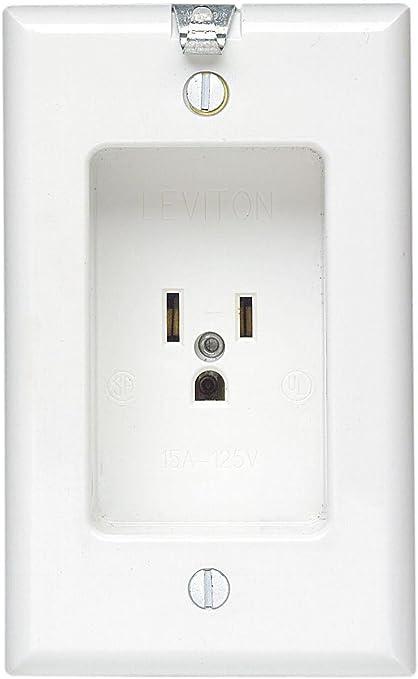 single plex receptacle wiring diagram leviton 688 w 15 amp  125 volt  1 gang recessed single receptacle  leviton 688 w 15 amp  125 volt  1 gang