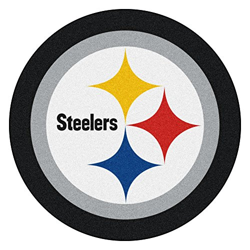 (FANMATS 20984 Team Color 3' x 4' NFL - Pittsburgh Steelers Mascot Mat)
