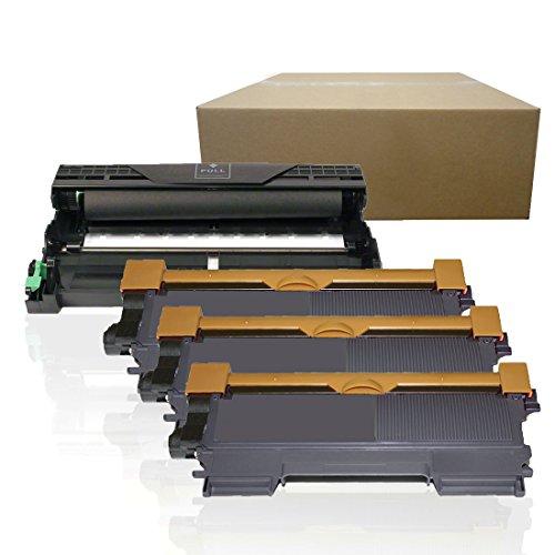 Inktoneram Compatible Toner Cartridges & Drum Replacement for Brother TN450 TN420 DR420 DR-420 TN-450 TN-420 HL-2220 HL-2230 HL-2240 HL-2270DW HL-2280DW MFC-7360N MFC-7460DN MFC-7860DW (DR,3-TN,4PK)