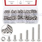 Hilitchi 180-Piece [M3] Stainless Steel Hex Socket Button Head Cap Bolts Screws Nuts Assortment Kit (M3)