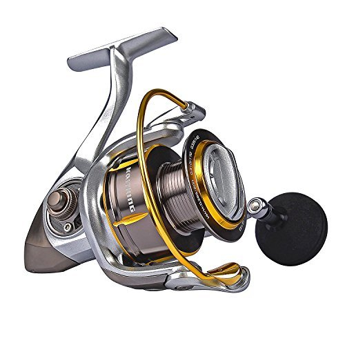 Ecooda Royal Sea Spinning Fishing Reels Metal Body Two Aluminum Spools Carbon Fiber Drag Great Open Face Reel 1500 2000 3000