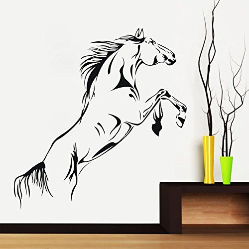 Creative Halloween Whip Interior Trends Meeting Room Glass Living Room Home Decor PVC Wall Stickers Removable Wall Stickers Leaping horse wall stickers(size:40.6x91.4cm) by DZY