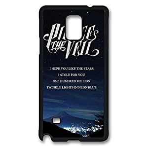 Fashionable outer Band pierce the veil Quotes DIY Design Printed use Protective Hard Case Cover noses for Samsung Galaxy Note 4 - One Piece Back Case Shell Black damaged 022712