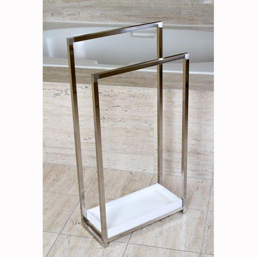 Brass Edenscape Free Standing Pedestal 2-tier Towel Rack Sat