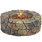 Cheap Best Choice Products Stone Design Fire Pit Outdoor Home Patio Gas Firepit