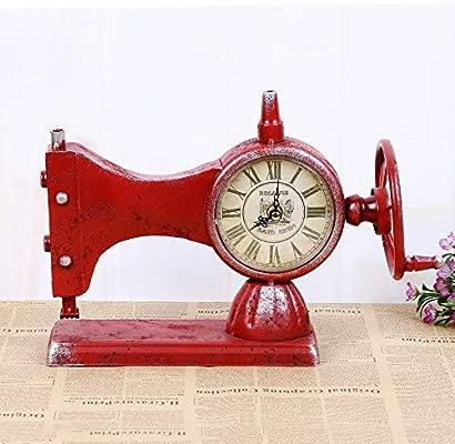 CWLLWC Reloj analógico,Reloj de chimeneaModelos máquina de Coser ...