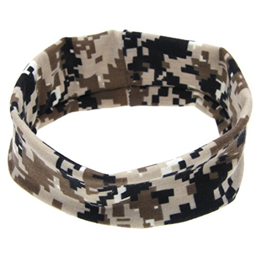 be Baby Camouflage Cloth Hair Ring Elastic Headband (Black) ()