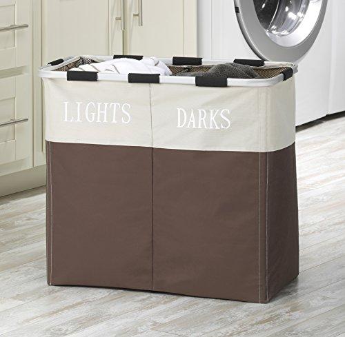 Whitmor Easycare Double Laundry Hamper Lights And Darks