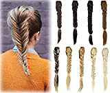 Long Straight Fishtail Plait Braids Synthetic Ponytail Extensions Clip in Ponytail
