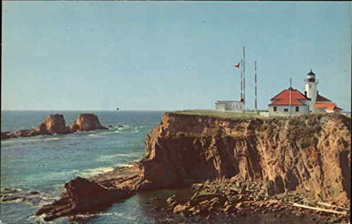 (Scenic Cape Argo Light Coos Bay, Oregon Original Vintage Postcard)