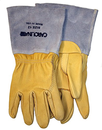 Size 10 Carolina Glove /& Safety URS5957PEG-10 Pair of Select Cowhide Palm Gloves Leather Cuff Tan