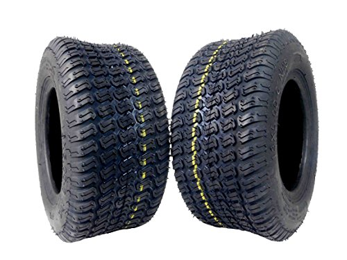 MASSFX Lawn Mower and Garden Tires 13x5-6 MO1356 4 PLY 3mm Tread 2 Tire Set by MASSFX
