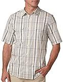 SCOTTeVEST Homestead Shirt - 6 Pockets, Short Sleeve Button Up Shirt, BGM L
