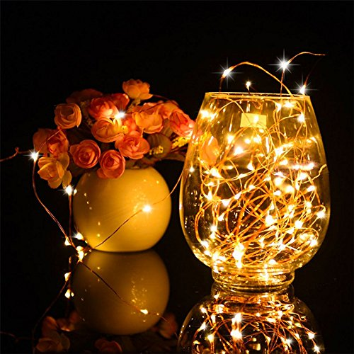 LUXJET® LED String Lights, 50 Led 5M Copper Wire Fairy Lights,8 Mode Lighting with Remote Control,battery powered Light string for Wedding, Dancing, Bedroom,Christmas Party Decoration(1 Pack)