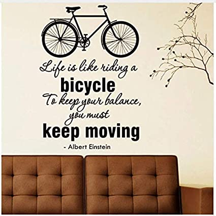 Ccfqiangtie La Vida Es Como Montar Una Bicicleta Pegatinas De ...