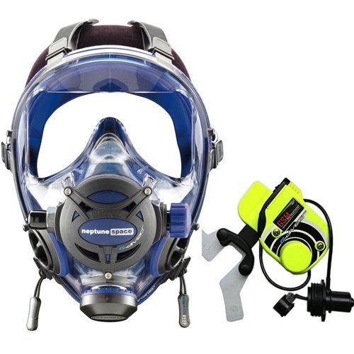 (Ocean Reef Neptune Space G. Divers Series Full Face Mask Kit (Medium/Large, Cobalt))