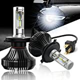 Led Headlight Bulbs, Autofeel H4(HB2,9003) Headlight Conversion Driving lamp Bulbs S7 84W 8000LM 6500K Cool White All-in-One Conversion Kit with CREE Chips