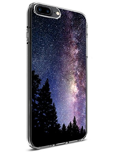 uk availability 4fb5d b78e0 Lakaka Slim Protective Case for iPhone 8 Plus/iPhone 7 Plus 5.5 Inch  Charming Space Galaxy