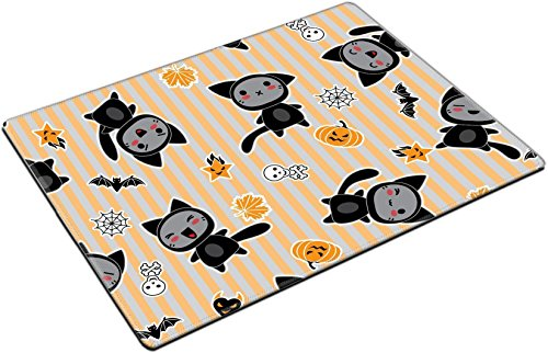 MSD Place Mat Non-Slip Natural Rubber Desk Pads Design: 15126255 Kawaii Background of Halloween Related Objects and Creatures ()