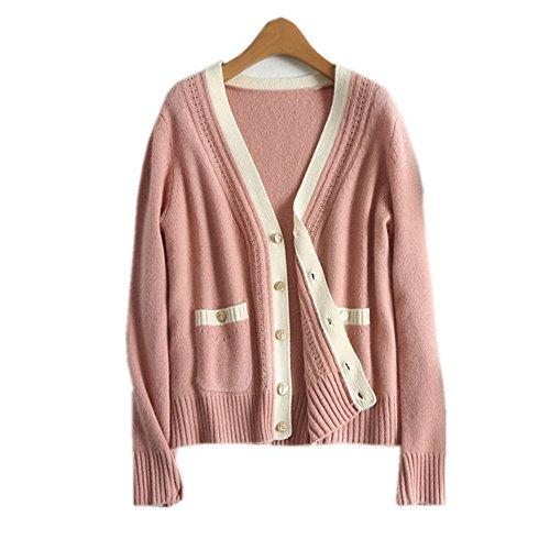 2018春の女性のカシミアカーディガンセーターコート
