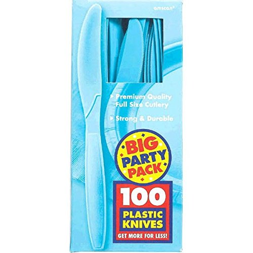 Carribean Blue, Big Party Pack, Mid Weight Knives, 100 Per Pack ()