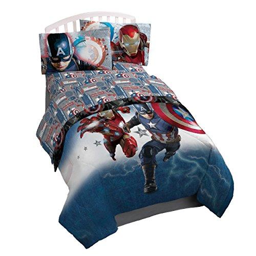 Marvel Captain America 'Civil War' Twin 3 Piece Sheet Set (Captain America Bedding Twin compare prices)