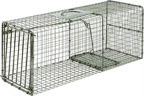 Heavy Duty Single Door Cage Trap, Large, 28x12x12, Racoon,Cat,Armadillo