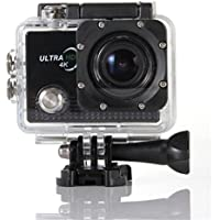 Boddenly Pro5000 14-megapixel HD Wifi 4k 170° Wide Angle Lens Waterproof 30 m Sports Action Camera Kit for Hiking Skiing Cycling Climbbing Explore(Black+WiFi)