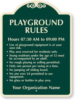 amazon com playground rules aluminum architecturally designed