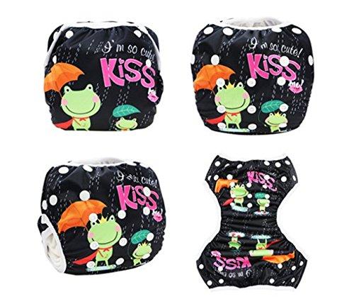 Hi Sprout Unisex Snap reutilizable bebé absorbente Swim Pañales ajustable talla única Baby Crocodile Hisprout