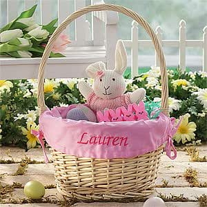 Pink Personalized Easter Baskets for Girls