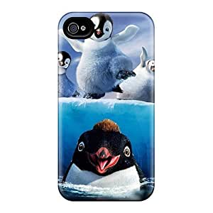Awesome Design Happy Feet Two Hard Case Cover For Iphone 4/4s