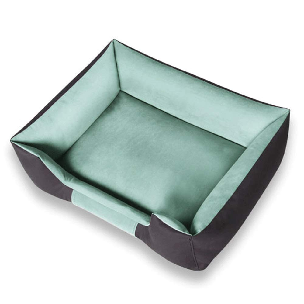 Green C Green C Pet Nest Non-sticky Four Seasons Removable and Washable Medium Dog Small Dog Warm Pet Mattress (color   Green, Size   C)