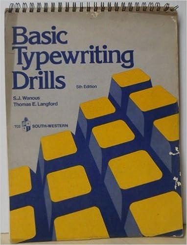 Basic Keyboarding//Typewriting Drills