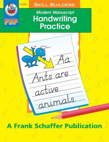Modern Manuscript Handwriting Practice Skill Builder (Handwriting Skill -