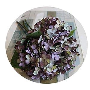 7 Colours 1Bunch/3Pcs Artificial Flower Fake Snowball Bouquet Christmas Wedding Arrangement Home Decoration Purple