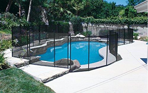 GLI 30-0510-BLK Inground Removable Safety Fence 5' high x 10' Wide Panel - Black Set of 10