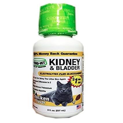 Liquid-Vet by COOL PET Holistics LiquidVet gato del riñón y la vejiga fórmula rápida acción glucosamina y electrolitos por los riñones y la vejiga ayuda a ...