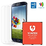 galaxy s4 i9505 battery - S4 Battery [ NFC / Google Wallet Capable ] ,YONTEX 2600mAh Replacement Battery for Samsung Galaxy S4 [ I9500,I9505,Galaxy S4 LTE I9506, M919, I545, I337, L720 ] with 3 Pack Screen Protector