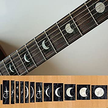 Amazoncom Fretboard Markers Inlay Sticker Decals For Guitar And - Custom vinyl stickers for guitars