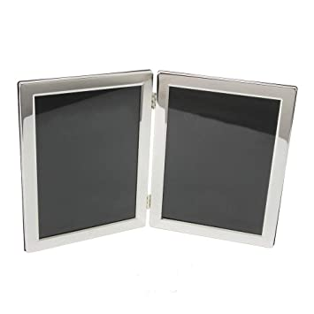 Amazoncom Silver Plated Luxury Hinged Double 8 X 10 Picture