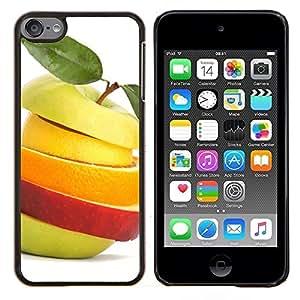 CashCase @ FOR Apple iPod Touch 6 6th Generation Fruit Slices Doble capa de armadura de la cubierta del caso del protector