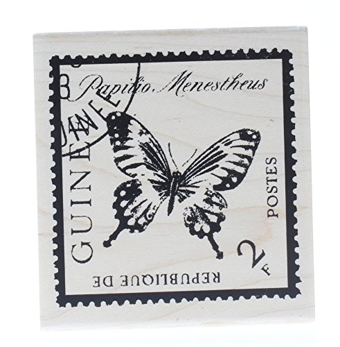 Butterfly Wooden Stamp (Butterfly Insect Postage Post Mark Stamp Stampington And Co Wooden Rubber Stamp)