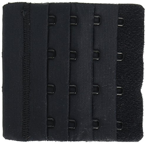 Dritz 56623-1  Bra Back Extender 3 Inch Wide-Black 4 Hooks