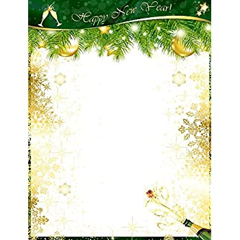happy new year popped champagne bottle stationery printer paper 26 sheets